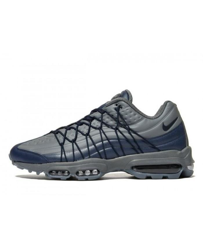 Homme Nike Air Max 95 Ultra Gris Bleu