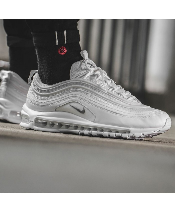 Homme Nike Air Max 97 Blanc Argent