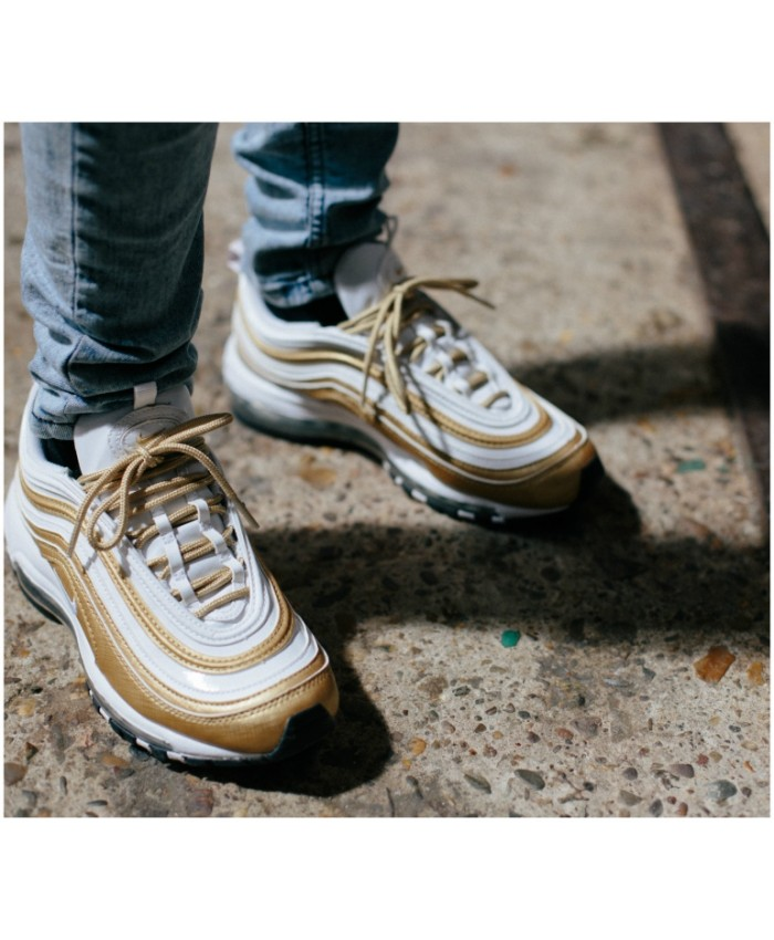Homme Nike Air Max 97 Or Blanc