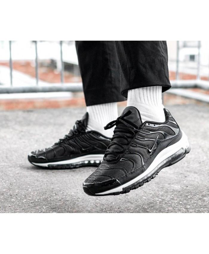 Homme Nike Air Max 97 Plus Noir Blanc