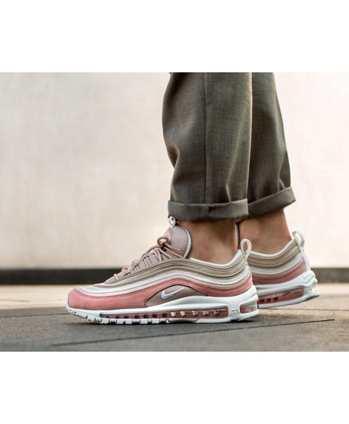 Homme Nike Air Max 97 Premium Beige Blanc Pink