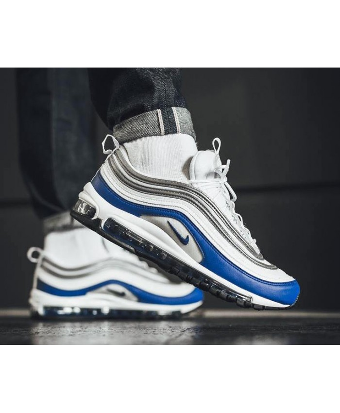 Homme Nike Air Max 97 Royal Bleu Blanc