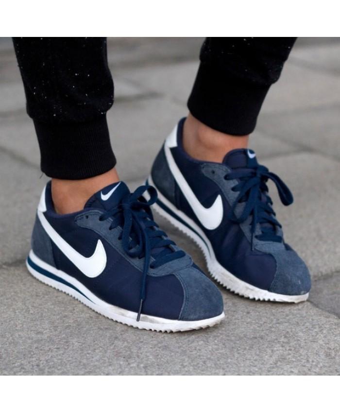 Homme Nike Cortez Bleu Blanc