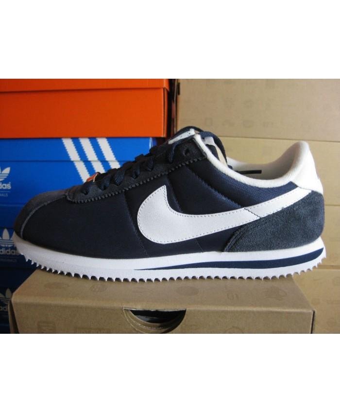 Homme Nike Cortez Bleu Blanc Chaussures