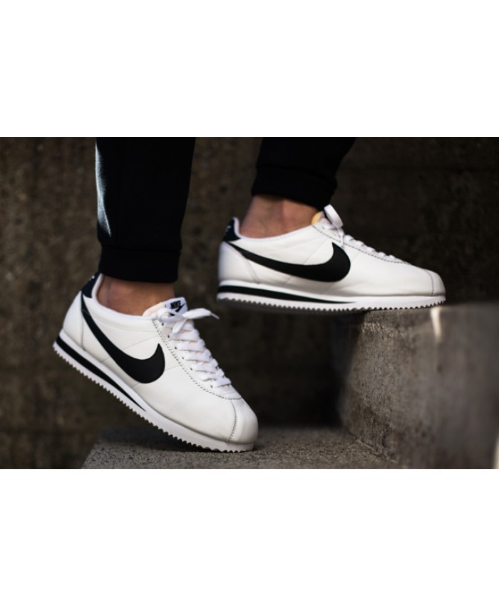 Homme Nike Cortez Nylon Blanc Noir Light Bone