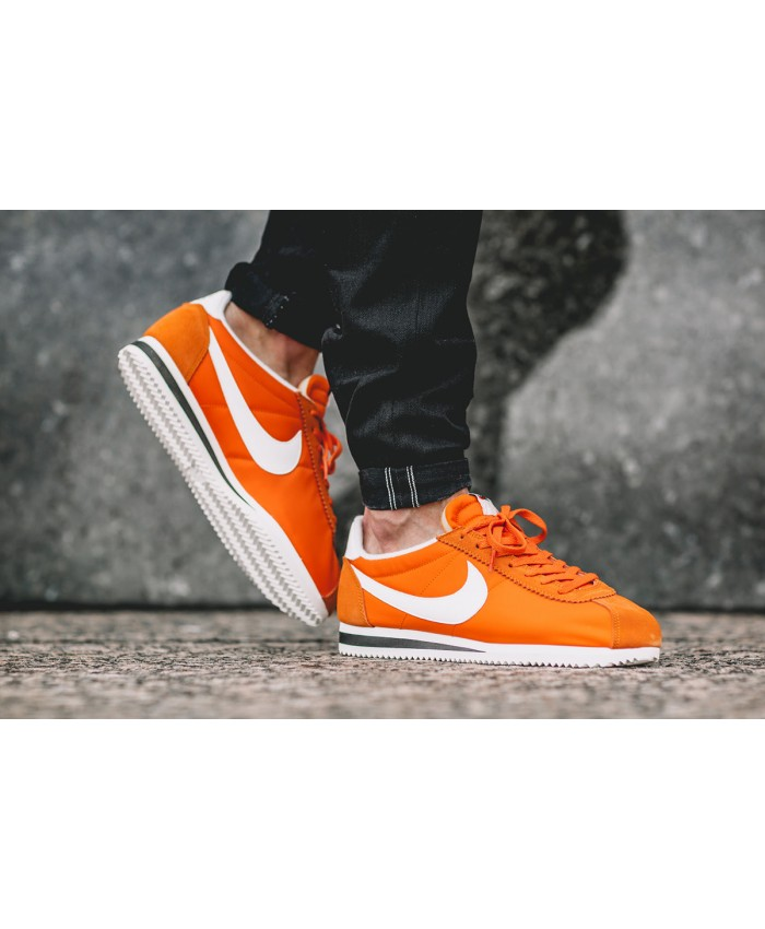 Homme Nike Cortez Nylon Clay Orange