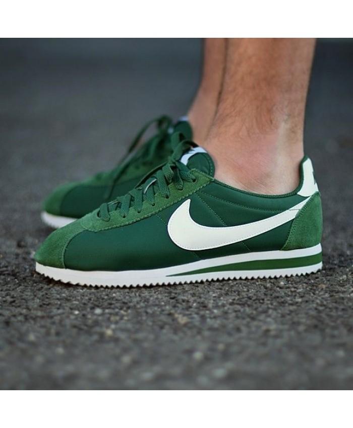 Homme Nike Cortez Nylon Vert Blanc