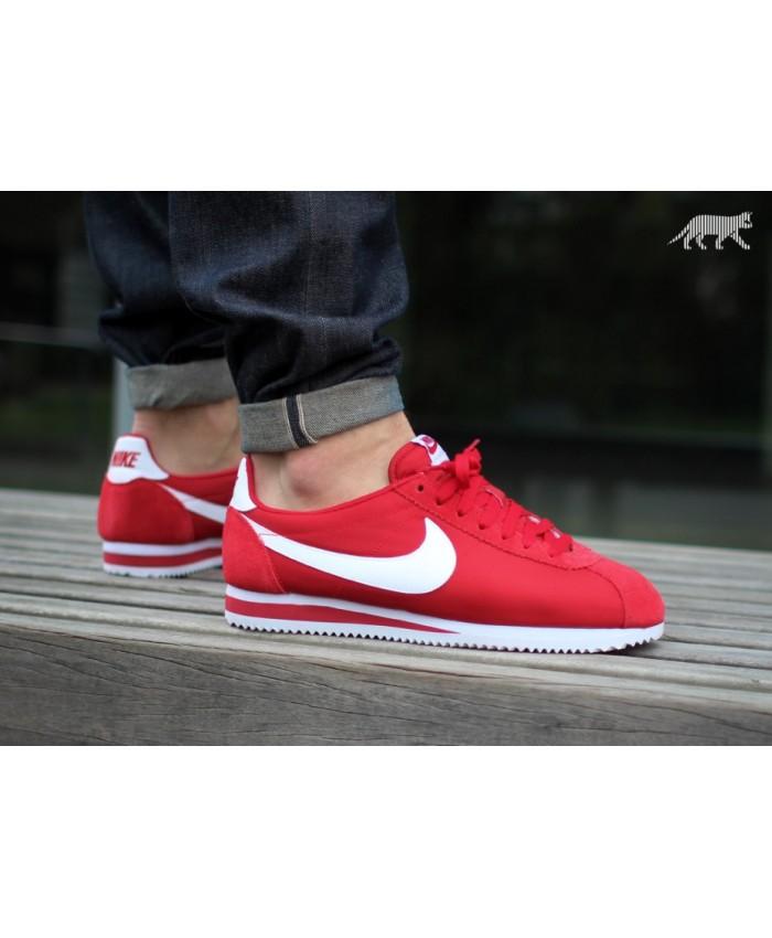 Homme Nike Cortez Rouge Blanc