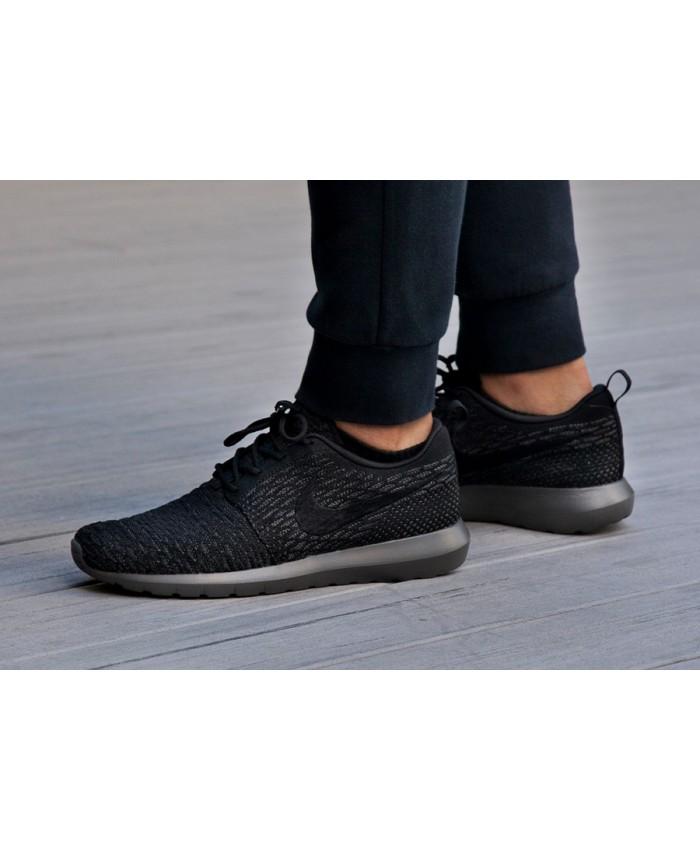Homme Nike Roshe Flyknit Noir