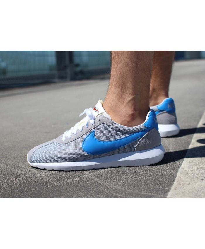 Homme Nike Roshe LD-1000 Gris Bleu Blanc
