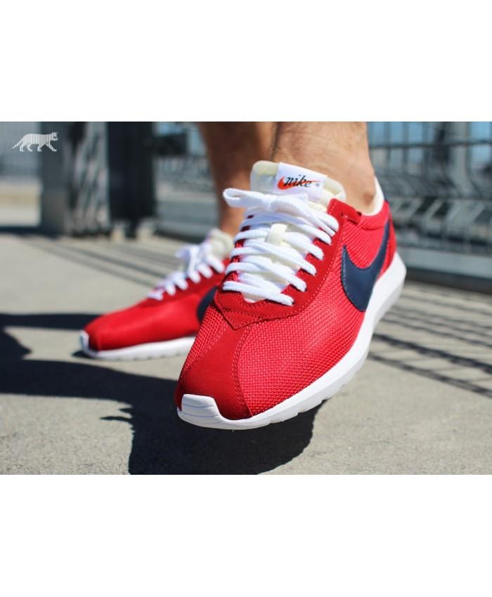 Homme Nike Roshe LD-1000 QS Rouge Bleu Blanc