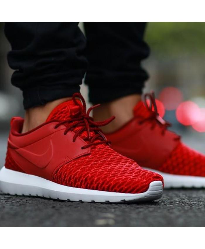 Homme Nike Roshe Nm Flyknit Prm Rouge