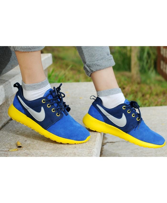 Homme Nike Roshe Run Bleu Jaune