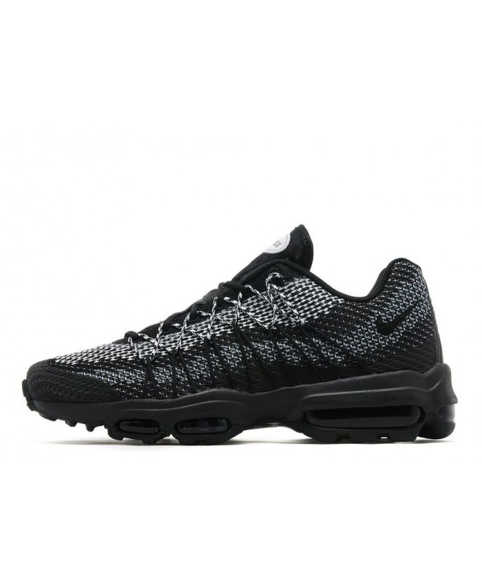 Homme Noir Blanc Chaussures Nike Air Max 95 Ultra Jacquard