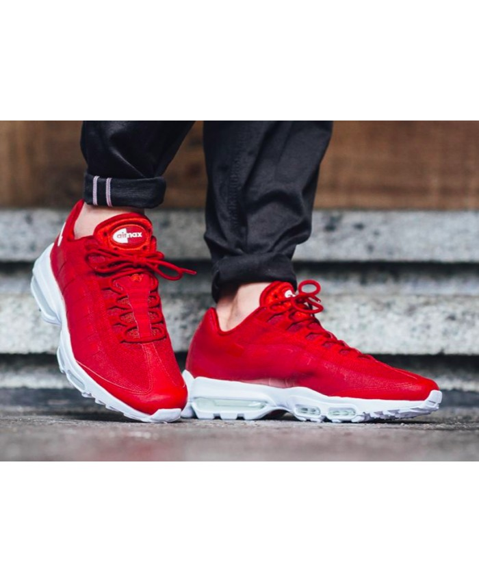 Homme Rouge Blanc Nike Air Max 95 Ultra Essential