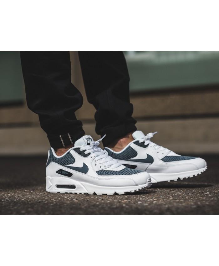 Nike Air Max 90 Chaussures Blanc Bleu