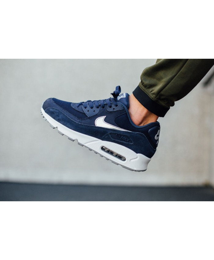 Nike Air Max 90 Essential Bleu Argent