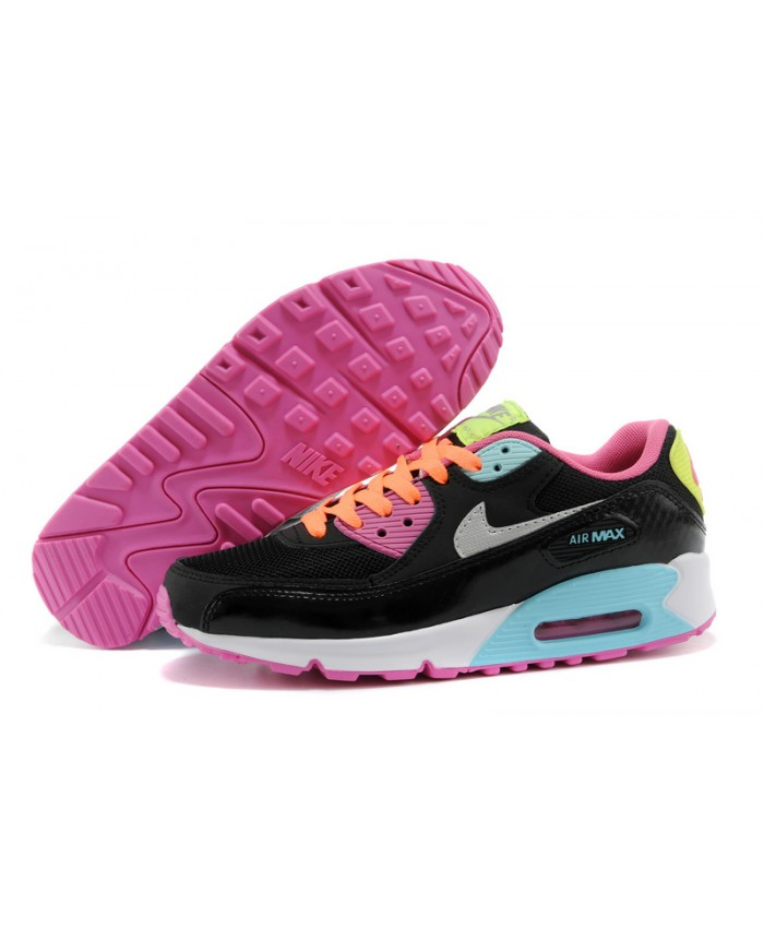 Nike Air Max 90 Essential Noir Rose Bleu