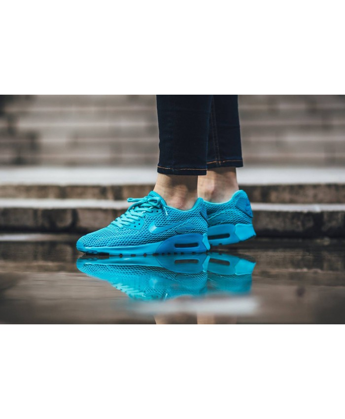 Nike Air Max 90 Ultra Breathe Bleu