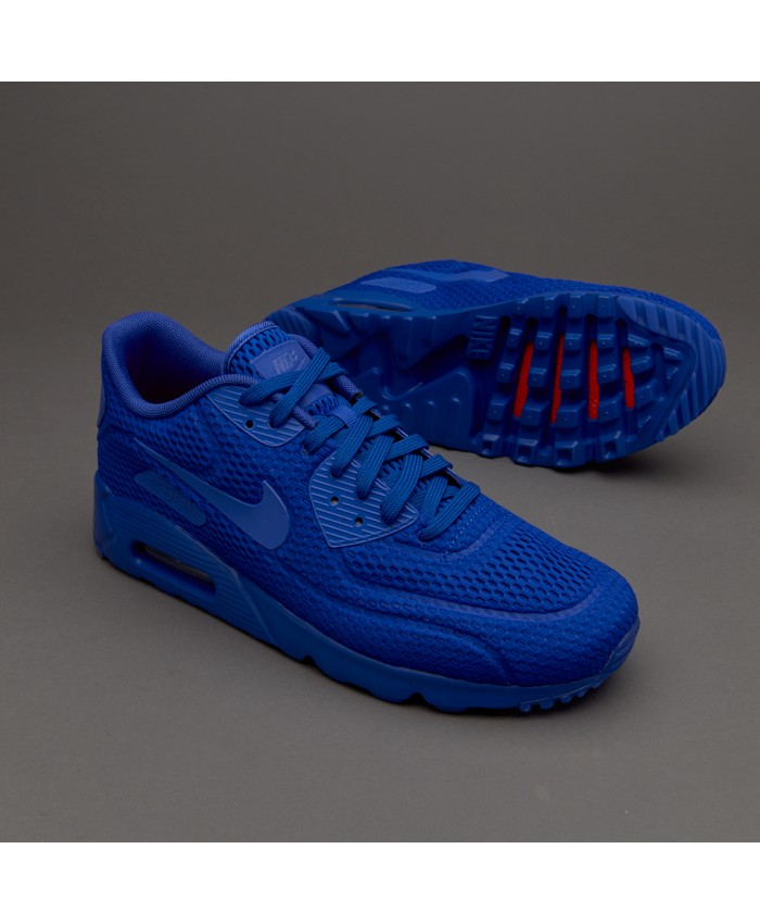 Nike Air Max 90 Ultra Breathe Bleu Chaussures