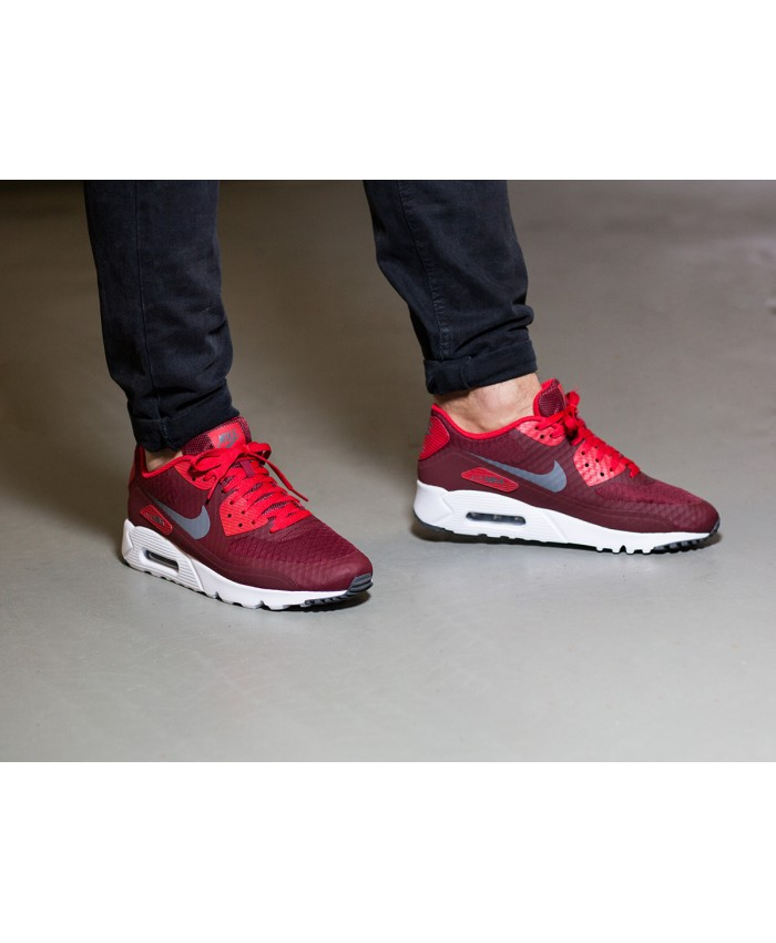 Nike Air Max 90 Ultra Essential Chaussures Rouge Blanc
