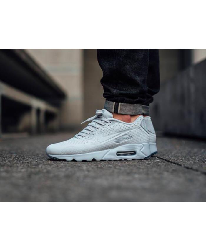 Nike Air Max 90 Ultra Moire Tout Blanc Chaussures