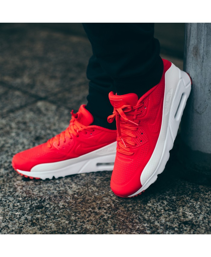 Nike Air Max 90 Ultra Morie Rouge Blanc