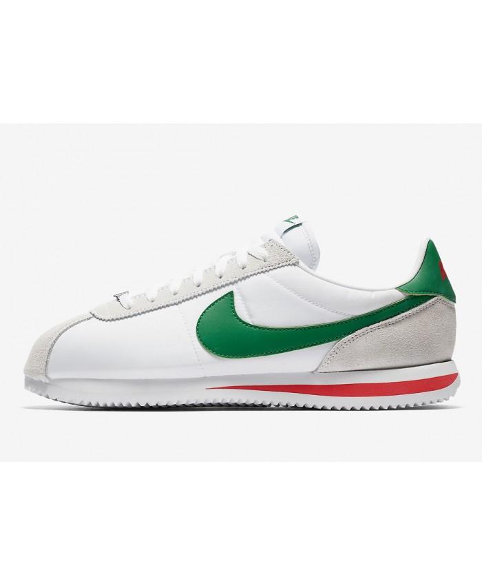 Nike Cortez Femme Blanc Vert Rouge Gris