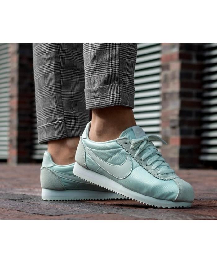 Nike Cortez Femme Nylon Vert