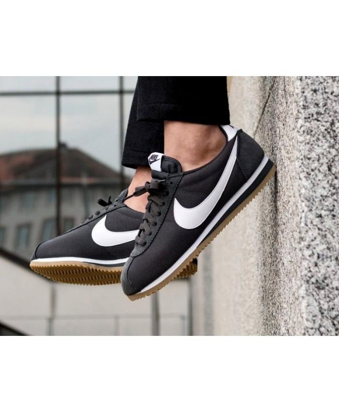 Nike Cortez Homme Noir Blanc