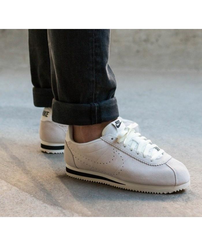 Nike Cortez Homme Suède Sail Noir
