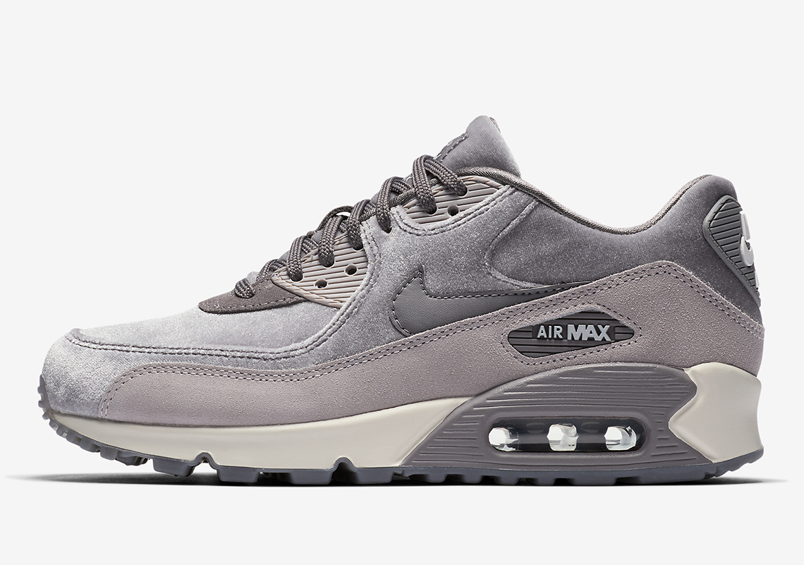 Femme Nike Air Max 90 Deluxe Seude Gris