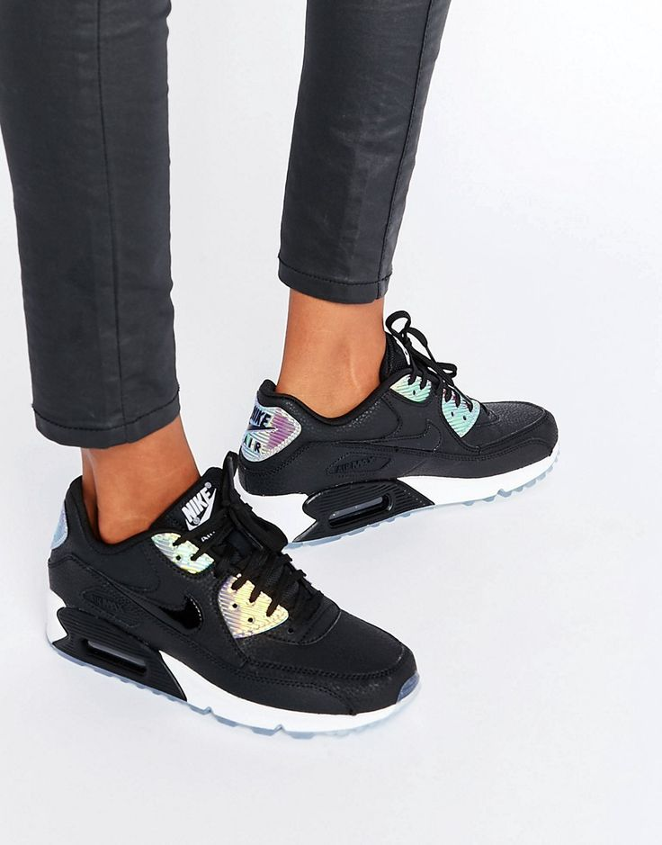 info for a5b0f e5699 Femme Nike Nike Femme Air Max 90 Premium Holographique Noir 968f1d