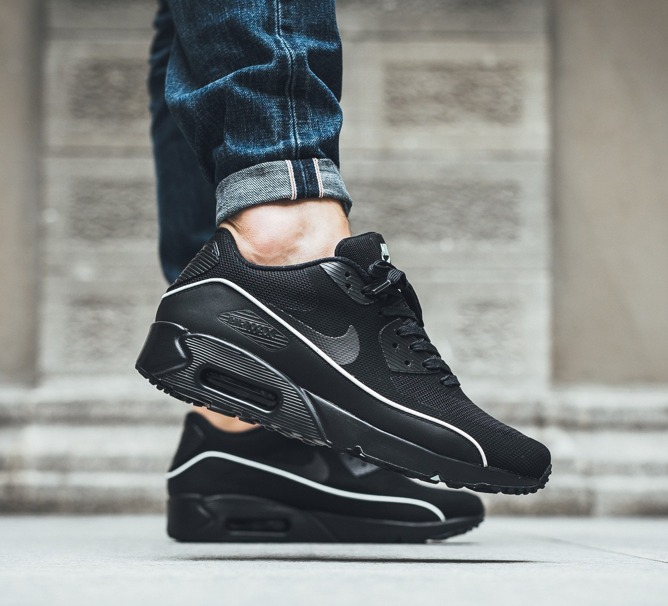 detailed look dc8f2 1fac1 usa homme nike air max 90 ultra 2.0 essential noir blanc f18e4 57fbf