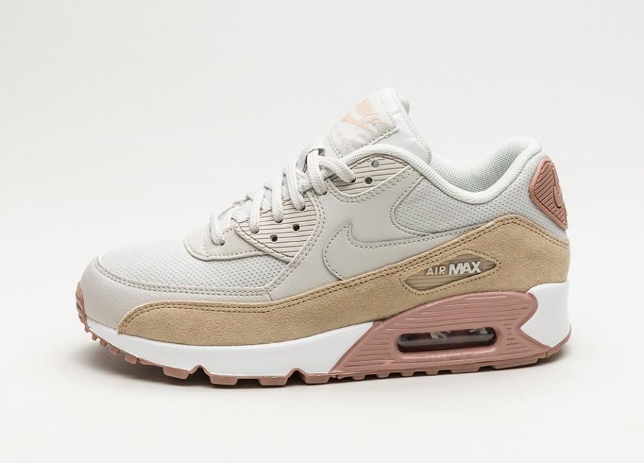 super popular 657f8 a4b02 ... Nike Air Max 90 Premium Femmes Shoe Light Bone Gum Jaune Blanc Il n y a  aucun avis sur ce produit.